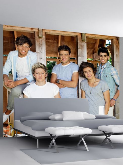 One Direction Barn Design Wall Mural - Wallpaper Mural Official 1D merchandise - Great matching bedding and other bedroom merhcnadise