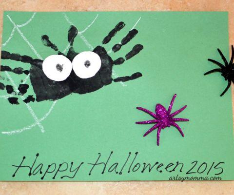 Handprint Spider & Web Art Project