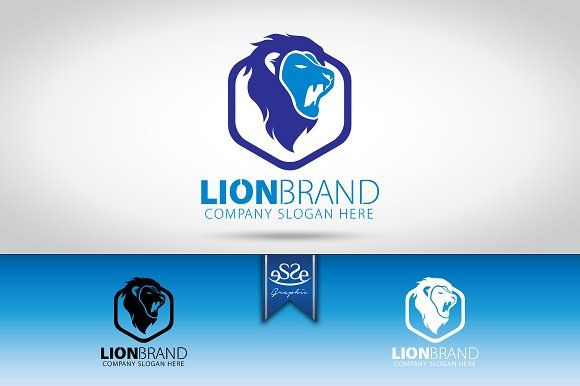 Lion Logo by eSSeGraphic on @creativemarket