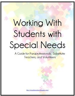 Allison's Class: Paraprofessionals - FREE - informational handbook ...