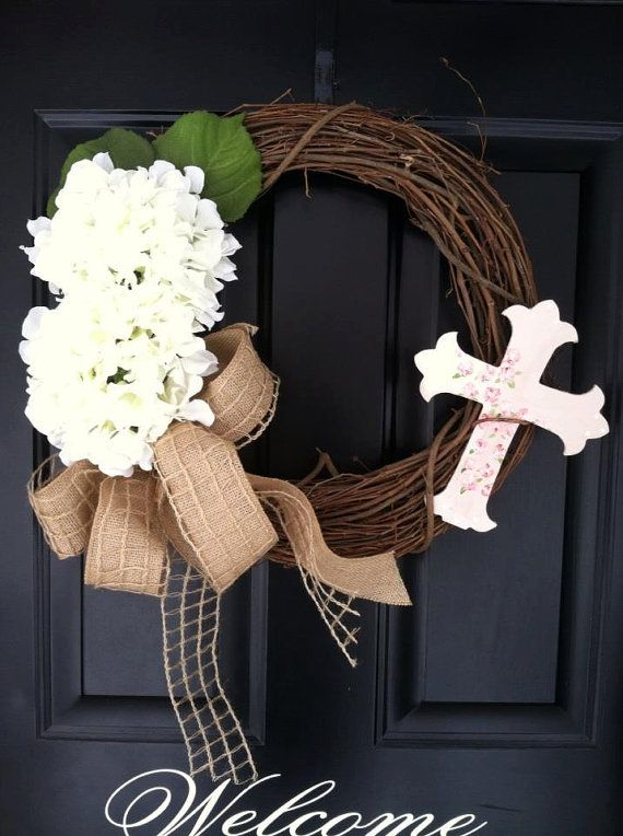 Easter Wreath Religious Cross Spring