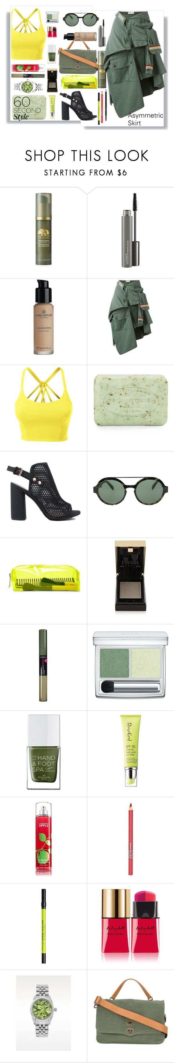 """""""Summer Skirt and Booties"""" by beleev ❤ liked on Polyvore featuring Origins, MAC Cosmetics, Faith Connexion, LE3NO, Pré de Provence, Italia Independent, Forever 21, Yves Saint Laurent, L'Oréal Paris and RMK"""