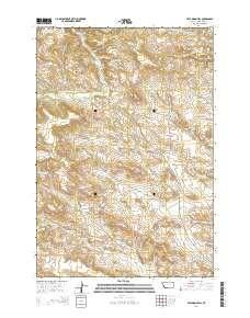 ~ Half Moon Hill MT topo map, 1:24000 scale, 7.5 X 7.5 Minute, Current, 2014