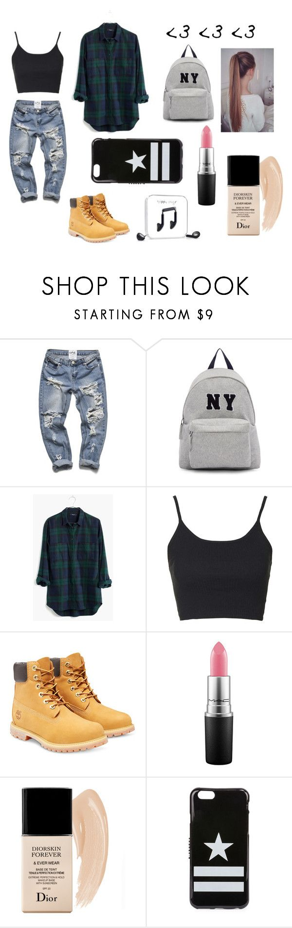 """Solo tu"" by lizzyrivas on Polyvore featuring Belleza, Joshua's, Madewell, Topshop, Timberland, Christian Dior, Givenchy y Happy Plugs"