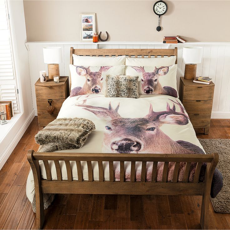 George Home Christmas Photographic Stag Duvet Range