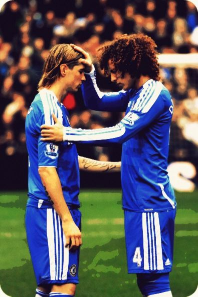 Luiz praying over Torres. Makes my heart happy to see this :D