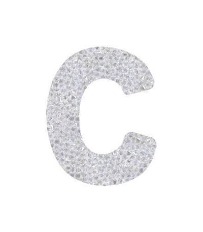 3a14c0c9e Fine Rocks Crystal Letters by Swarovski®-Swarovski Crystal Letters-C  (24x30mm)-Bluestreak Crystals