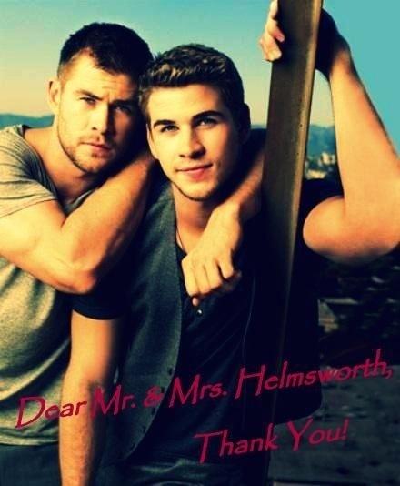 Thankyou!Thankyou!Thankyou! (chris helmsworth,liam helmsworth).: Eye Candy, Chris Hemsworth, Parents, Boys, Liam Hemsworth, Hemsworth Brother, Celebs, Hotti, Families