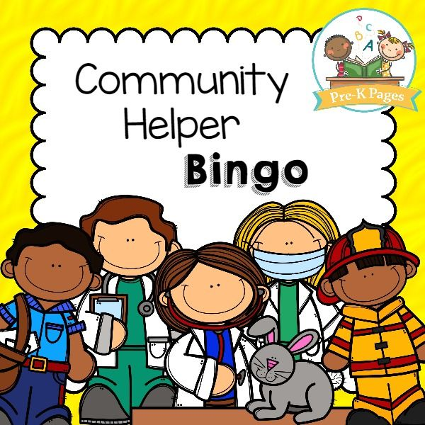 community helper bingo - Preschool Halloween Bingo