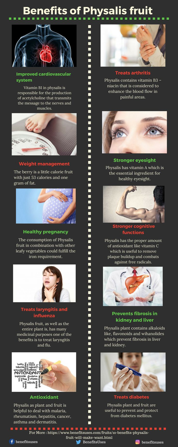 Benefits of Physalis fruit will make you want it more. #infographic http://bit.ly/2mvUxoF