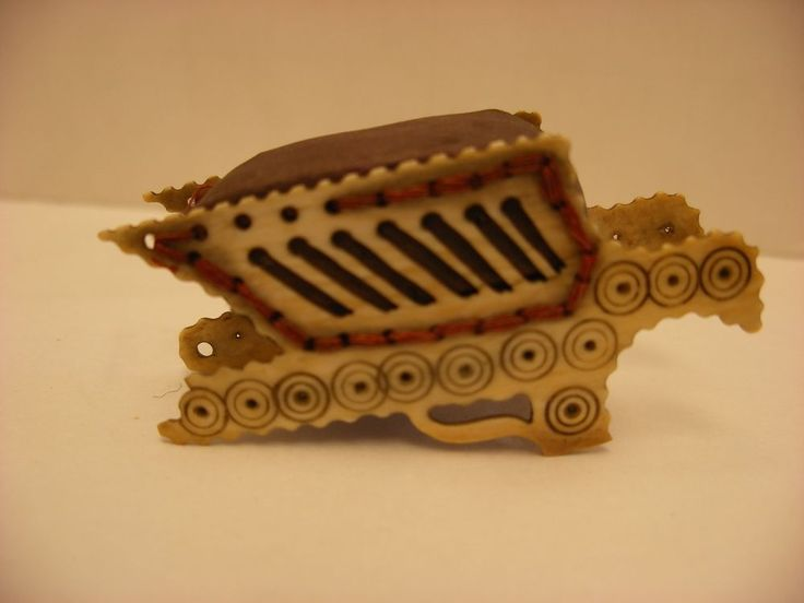 Antique Vintage Sewing Notion - Victorian wheelbarrow Shaped  Pin Cushion  | eBay