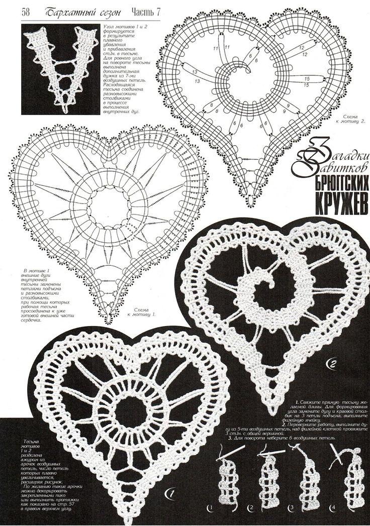 108 best Ganchillo: Corazones y estrellas [ crochet ] images on ...