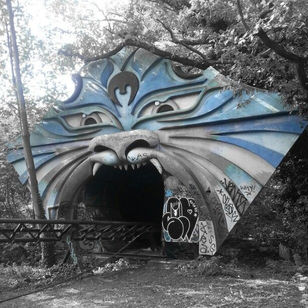 Abandoned theme park in treptow park, berlin