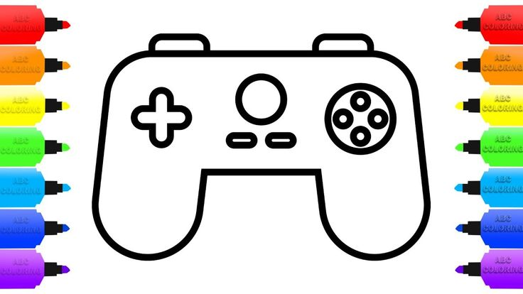 How To Draw Gamepad And Controller Coloring Book Videos For Children Coloring Books Learning Colors Drawings