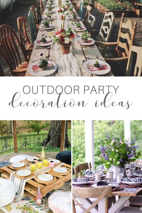 8 CHARMING OUTDOOR PARTY DECORATION IDEAS | Backyard party ...