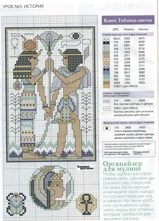 Egypt cross stitch figures