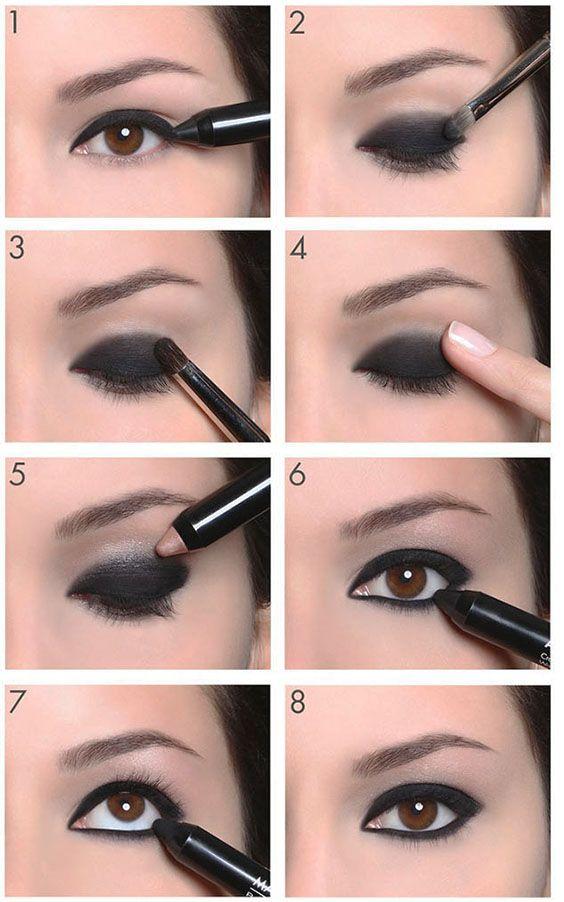 6 Elegant Smokey Eye Makeup totorials