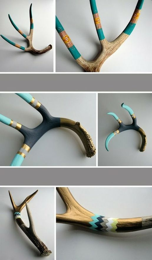 Better than average chance there will be some antlers in our house. This would be an OK way to display them. Cool and funky vs. redneck.