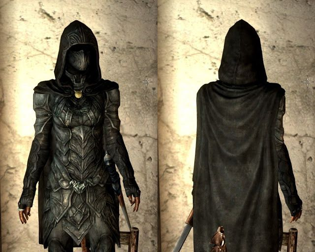 How to make Skyrim armor: Nightingale set with bow and sword