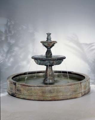 The Small Tazza In Valencia Fountain By Henri Studios Takes The Tazza  Fountain And Adds Ornamental Flutes Creates Multiple Spouts Of Cascading  Water Into ...