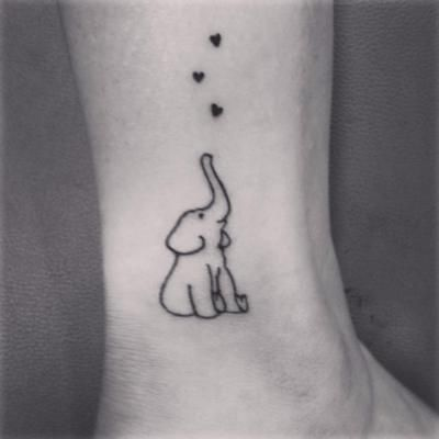 elephant tattoo trunk up - Google Search
