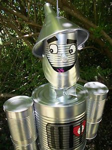 1082 best can crafts images on pinterest recycled cans for Tin can tin man craft