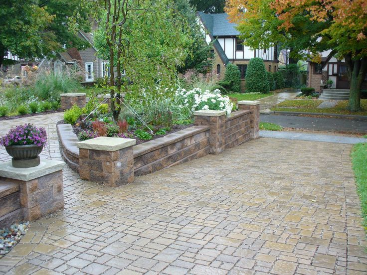 24 best landscaping ideas images on pinterest diy for Sloped driveway options