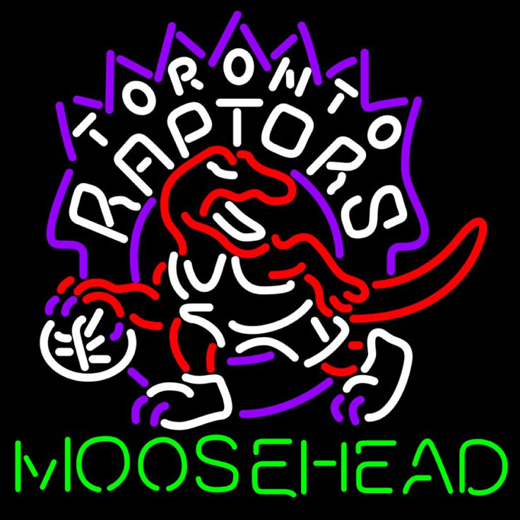 Moosehead Toronto Raptors NBA Neon Beer Sign, Moosehead with NBA Neon Signs | Beer with Sports Signs. Makes a great gift. High impact, eye catching, real glass tube neon sign. In stock. Ships in 5 days or less. Brand New Indoor Neon Sign. Neon Tube thickness is 9MM. All Neon Signs have 1 year warranty and 0% breakage guarantee.