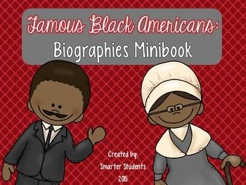 Famous Black Americans Biographies Minibook: contains 26 total biographies!