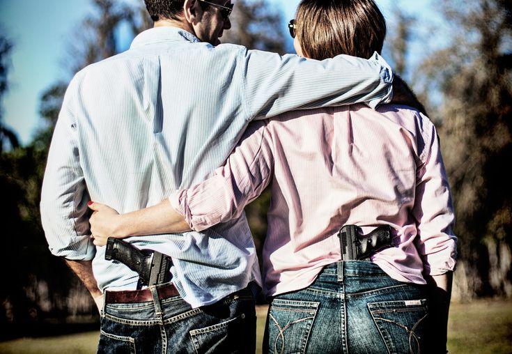 Engagement Photos with Guns