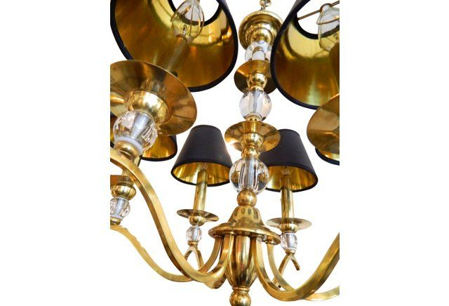 Attr. Jacques Adnet French Chandelier