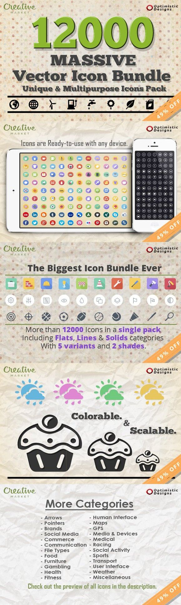 12000 Massive Vector Icons Bundle 1 Joomla templates