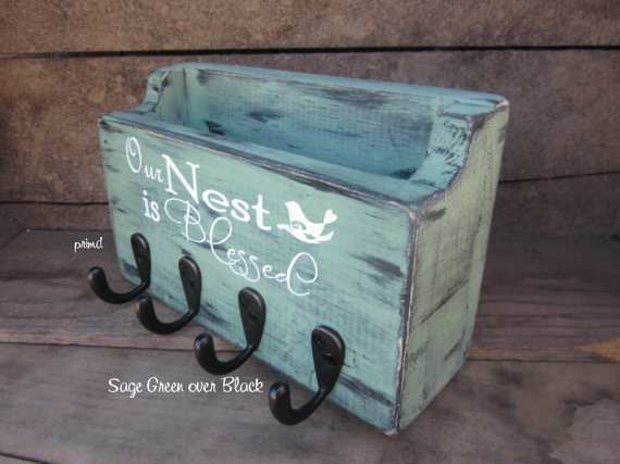 Our Nest Is Blessed  Mail Holder Key Holder Key Hanger by primd, $22.99