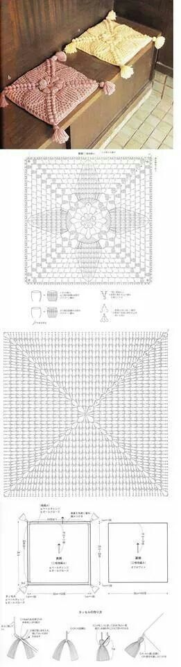 Beautiful crochet cushions