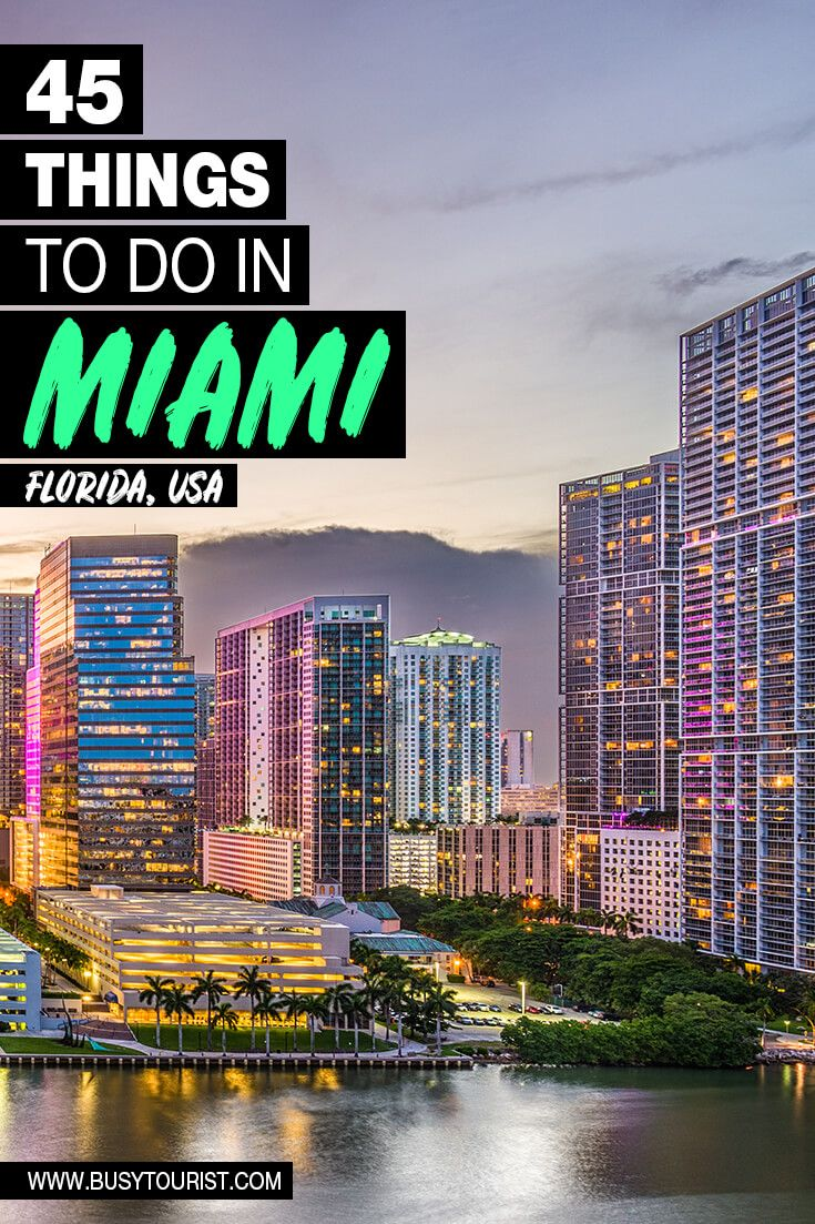 45 Best Fun Things To Do In Miami Florida Vacation Usa Cool Places To Visit Fun Things To Do
