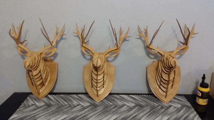 2.  3D Голова оленя. 3d Deer head