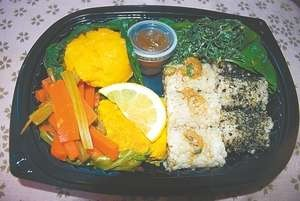 """Grab-and-go balanced meal boxes called """"Macrobiotic Bento"""" by Nevada City resident Migiwa Kawasaki for BriarPatch Co-op."""