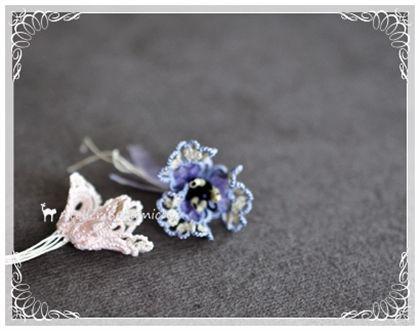 いろいろな 立体お花モチーフ。