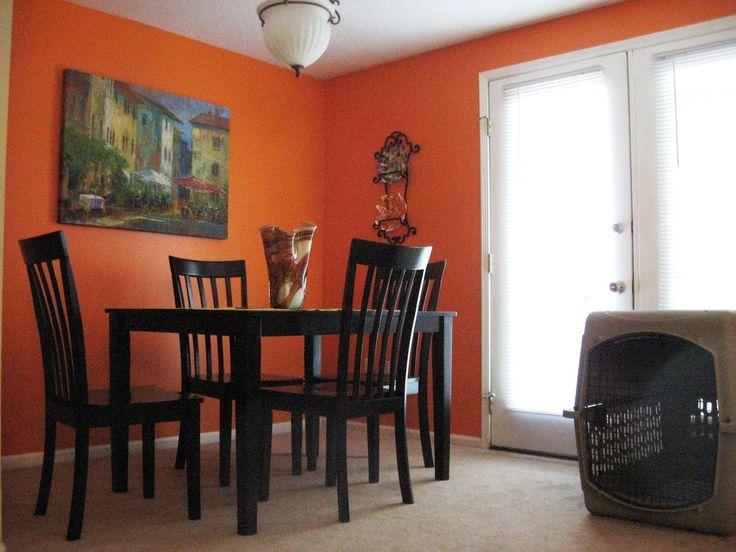 Orange Walls In Dining Room