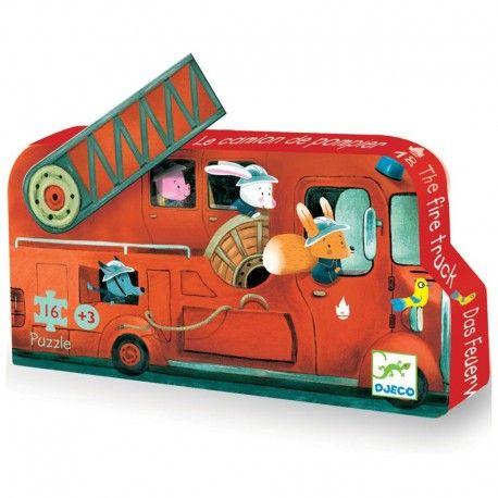 Puzzle de 16 pièces dans une jolie boite silhouette qui trouvera sa place sur l'étagère pour décorer la chambre de l'enfant.