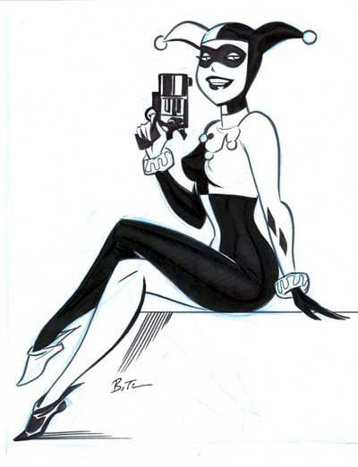 Harley Quinn by Bruce Timm * ✤ || CHARACTER DESIGN REFERENCES | キャラクターデザイン | çizgi film • Find more at www.facebook.com/... if you