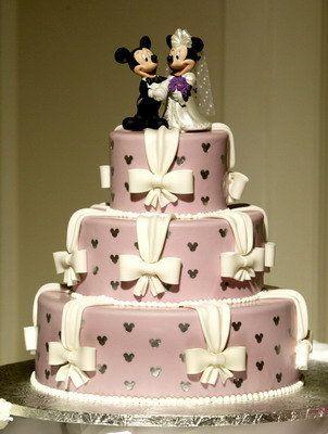 Mickey and Minnie Wedding Cake