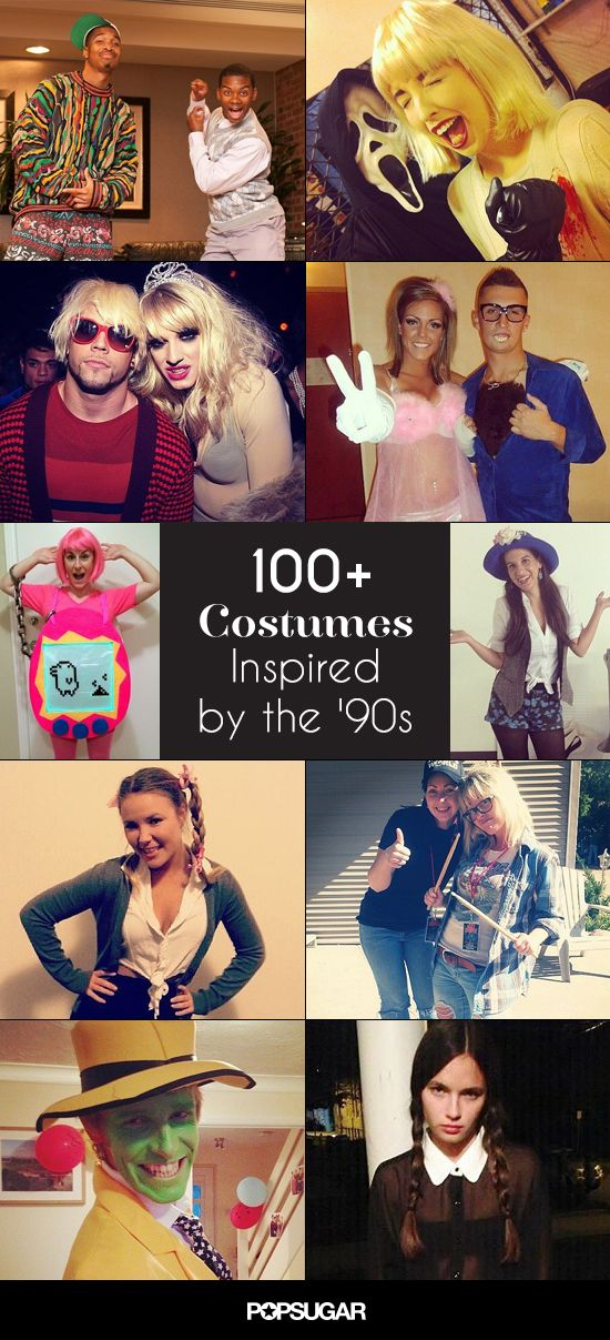 The '90s were a magical time of boy bands, VHS tapes, Lisa Frank, and Nickelodeon cartoons, and what better way to pay homage to your childhood than with a '90s-inspired Halloween costume. The ideas are endless, but we've rounded up more than 100 of the most creative and fun costumes — which for the most part are easy to DIY as well — inspired by the musicians, toys, cartoons, technology, movies, and TV shows of this unforgettable decade. There's something for everyone: couples, women, and…