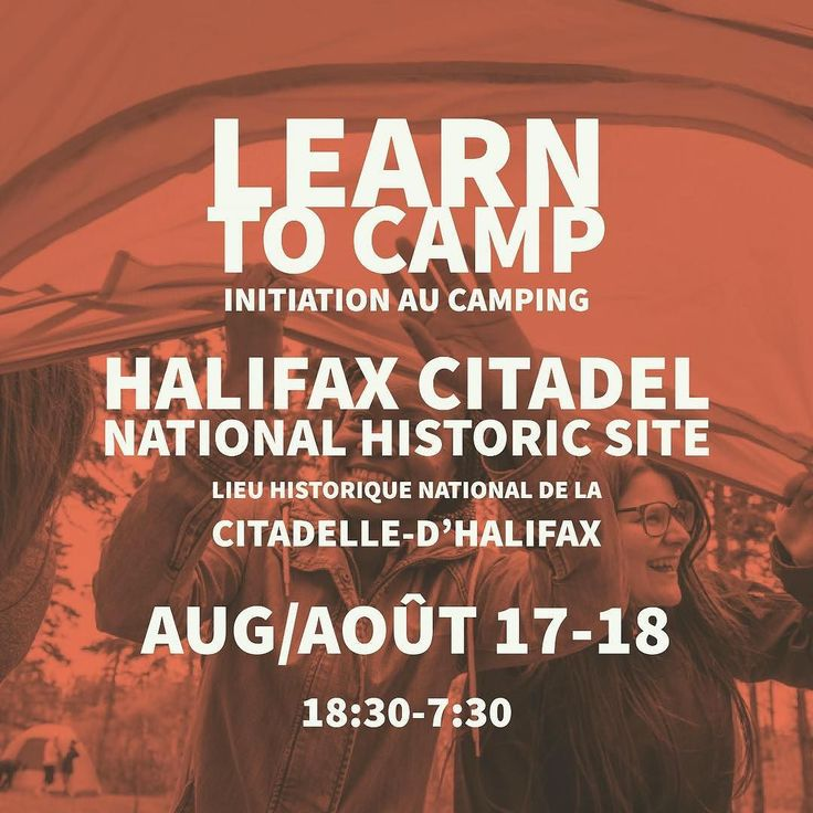 From @halifaxnoiseKIDS  Join the @parks.canada Youth Ambassadors and Learn-to Camp INSIDE the Halifax Citadel for free! . Experience the national historic site after dark on an exclusive ghost tour roast marshmallows by the campfire and then rise to the rhythm in the morning ready to DANCE to a live DJ! . Thursday August 17th at 6:30pm to Friday August 18th at 7:30am . Bring your own Sleeping Bag. All other Camping equipment and a continental breakfast is provided. No camping experience…