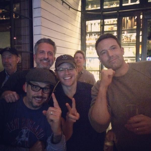Ben Affleck and Matt Damon Get Photobombed While Celebrating the Patriots' Super Bowl Win: See the Pic!