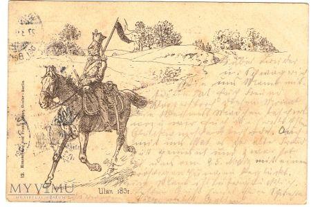 Duże zdjęcie Ułan 1831 - niemiecka karta pocztowa,początek XXw.