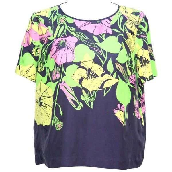 Pre-owned Top made of silk (830 EGP) ❤ liked on Polyvore featuring tops, black, summer tops, colorful tops, whistles tops, multi color tops and silk top