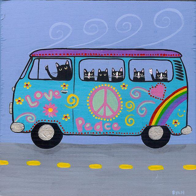 VW Hippie Bus by Kilkennycat, via Flickr