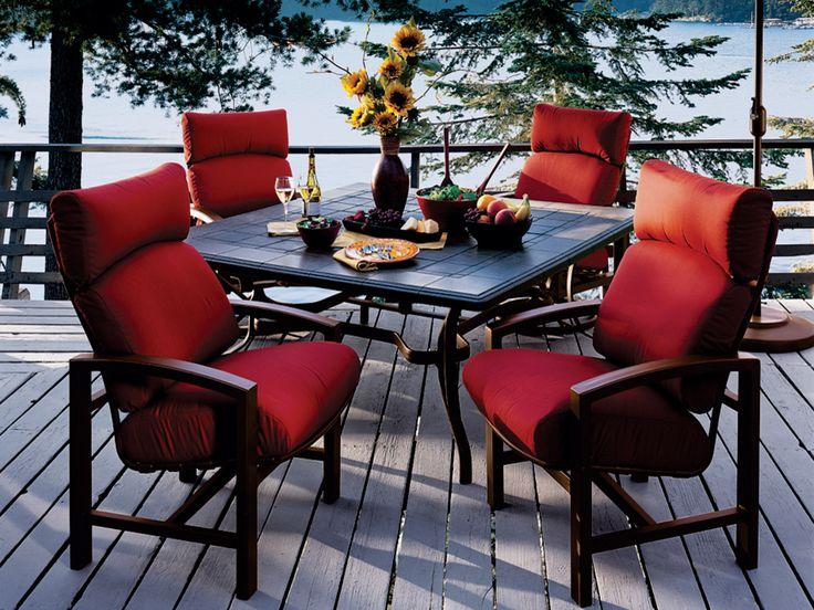 Tropitone Lakeside Cushion Aluminum Dining Set - 33 Best Images About Calgary Outdoor Patio Furniture On Pinterest