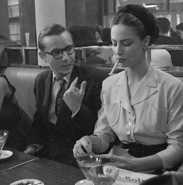 Simone de Beauvoir and Jean-Paul Sartre- I am guessing this picture is in the 1930s, as Simone appears to be in her 20s/30s and she was born in 1908. The main focus of the image, for me, is Simone's outfit...